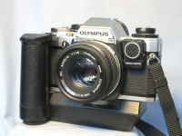 '   10 NICE SET ' Olympus OM10 SLR Camera + 50mm Made In Japan Lens + Man Adaptor + Winder 2 £39.99